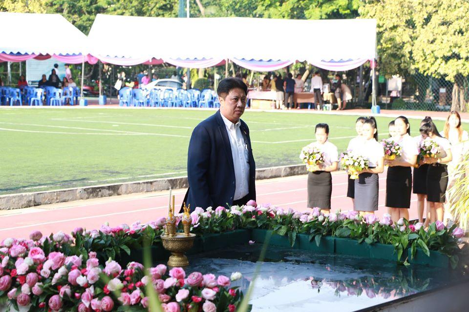 สำนักวิชาการศึกษาทั่วไปฯ ร่วมพิธีบวงสรวงและบำเพ็ญกุศลทักษิณานุปทาน ๑๕๙ ปี วันคล้ายวันพระราชสมภพสมเด็จพระนางเจ้าสุนันทากุมารีรัตน์ฯ
